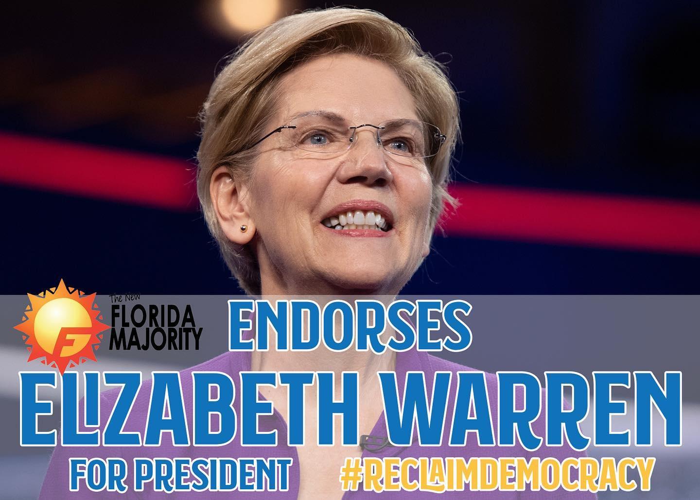 The New Florida Majority Endorses Elizabeth Warren for President