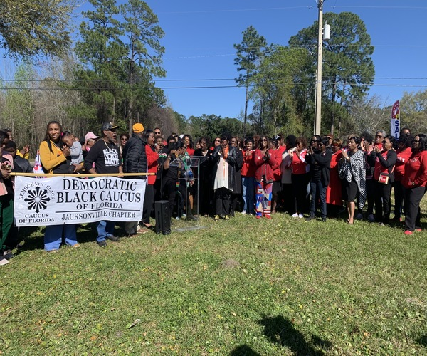 First-Time Voters and Returning Citizens Marched to the Polls During Early Voting in Jacksonville